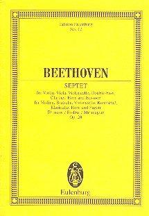 Septet Eb major op. 20 - Violin, Viola, Violoncello, Double bass, Clarinet, Horn and Bassoon - study score - (ETP 12)