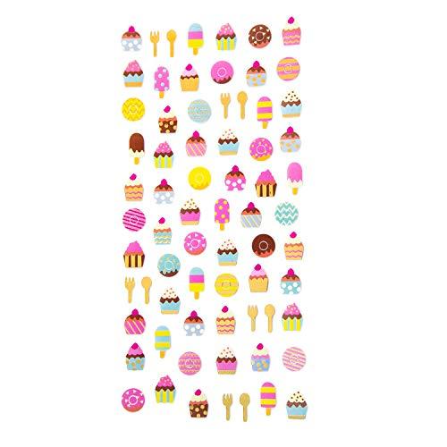 Oblique Unique® Retro Sticker Set im Vintage Style Aufkleber Scrapbooking Basteln Geschenk Deko Verzierung - Ballons Blumen Diamanten EIS Herzen Sterne UVM. - Motiv wählbar (EIS)