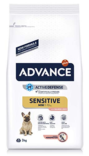 Advance Sensitive Pienso Perros Mini Salmón