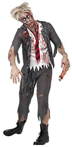Herren Zombie School Boy Schüler Uniform Halloween Fancy Kleid Kostüm Outfit (Halloween School Boy Kostüm)