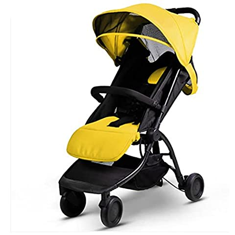 YINGER Pushchairs Travel baby carriage Light weight Portable Four - wheeled baby stroller Baby Products Easy Carry Foldable High Landscape , yellow