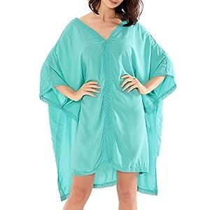 JLTPH Donna Beach Cover Up Sexy scollo a V Batwing Beach manica abito a maniche lunghe Kimono corso 19 spesavip