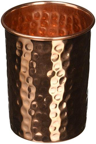 Prisha Indien Craft reines Kupfer Tasse Wasser, Tumbler-handgefertigt Wasser Gläser-Traveller 's Kupfer Becher für Ayurveda Vorteile-Weihnachten Geschenk