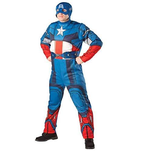 Captain America Mens Avengers klassisches Fancy-Kleid Marvel Superhero Adult Kostüm