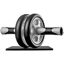Ultrasport AB Roller - Aparato de abdominales para mujeres, para fitness, musculación y pérdida de peso en el abdomen, las piernas y los glúteos con rodillo para abdominales AB con superficie de apoyo para las rodillas, negro