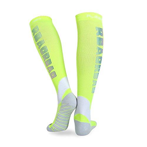 Calcetines graduados de compresión para hombres y mujeres, calcetines deportivos profesionales DECEYO para correr, enfermeras, embarazo y viajes en vuelo, aumento del flujo sanguíneo, mejorar la circulación de piernas (medio)