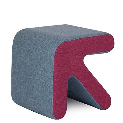 Qpg sgabello da banco in legno massello con freni a forma di panca sgabello da banco in pelle creativa con scuderia e sgabello basso sgabello da scarpe con testata moda (36 * 40 * 40) ( colore : c )