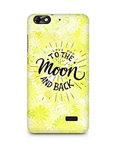 AMEZ love you to the moon and back Back Cover For Huawei Honor 4C