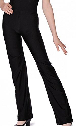 Damen/Mädchen Nylon/Lycra Jazz Pants/Dance Jazz Pants Gr. 11-13 Jahre, schwarz Kind Jazz-pant