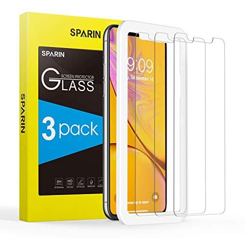 SPARIN [3 Pezzi] Vetro Temperato Compatibile con iPhone XS Max, Pellicola Vetro Temperato iPhone XS Max con [Strumento di Installazione Facile] [Caso Amichevole] [HD Chiaro] per iPhone XS Max.