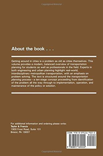 Metropolitan Transportation Planning, 2nd Edition