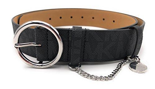 Michael Kors Gürtel, schwarz, Gr.L, Länge 110cm, Breite 4cm, silberne runde Schnalle, Damengürtel