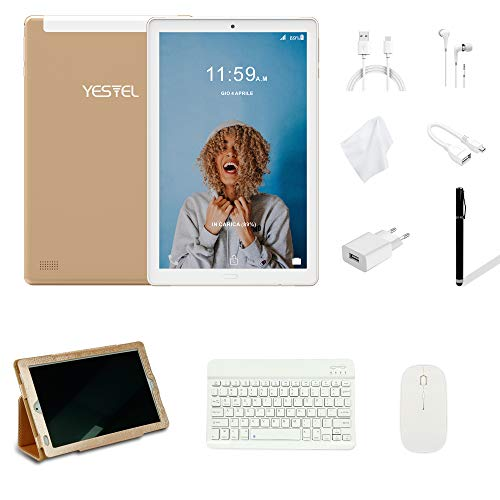 YESTEL Tablet 10 Pollici con wifi offerte Android 8.1 Tablet PC con 3GB RAM & 32GB ROM e LTE Dual SIM Call, 5.0 MP + 8.0 MP HD...