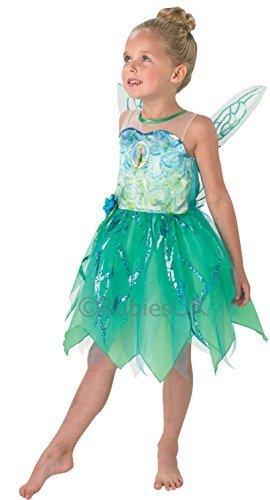 Fancy Me Mädchen Disney Tinkerbell + Wings Fee Peter Pan Büchertag Woche Halloween Film Kostüm Kleid Outfit - 7-8 ()