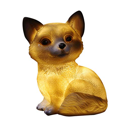 B Blesiya LED Solarlampen Hund/Schnecke / Hase/Eule Figuren - Hund -