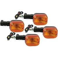Motorize - Moto Indicateurs Set - 4 pièces - Honda CB 400 CB 450 CB 500 CB400 CB450 E-marqué - Set 11