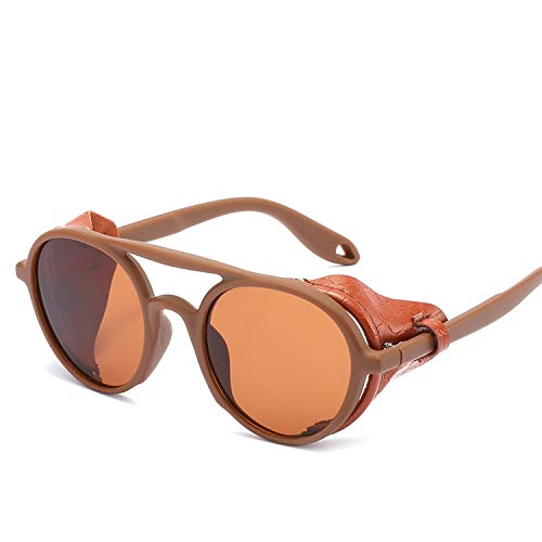 FIRM-CASE Männer Frauen Steampunk Schutzbrille-Sonnenbrille Retro Schatten Vintage-Brillen, 5