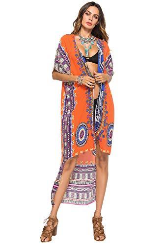 Cardigan Largo Mujer Talla Grande Bohemio Hippie Chic