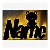 Schlummerlicht24 Led Nachtlicht Froggy du Frosch Lampe mit Name nach Wunsch, Geschenk für den Frosch-Fan, als Deko-Lampe
