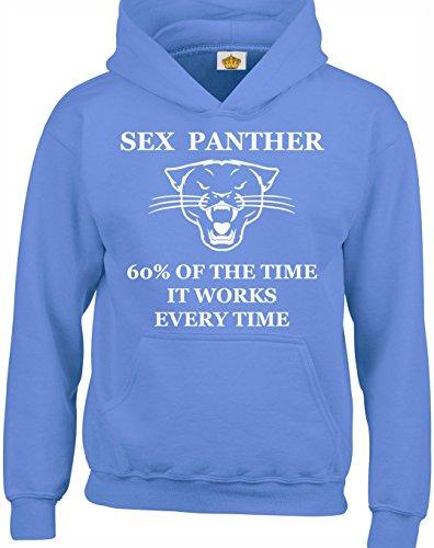 Crown Designs Sex Panther Lustig Geschenk Unisex Pullover Für Männer, Frauen Und Jugendliche (Carolina Blau/XX-Large) (Carolina Panthers Trikots Männer)