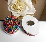 Candy - 2 Stück große ovale Magnete für Kühlschrank Pinnwand Whiteboard - Kunstharz Resin - Handmade - Glitzer / M106