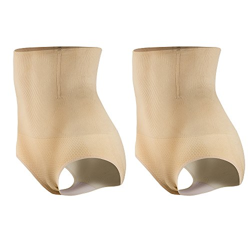 KSKshape Damen Miederslip mit Bauch-Weg-Effekt Miederpants String Mieder Butt Lifter Shaper figurenformend Shapewear (2Pack Tag M/L1=KSKshape Size S, Beige) (Mieder String)