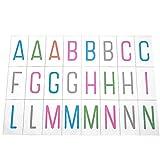 """Specifica:Colore: come mostratoMateriale: PETDimensione pezzo unitario (H * W): 65 * 35mm / 2,56 * 1,38 """"Quantità della carta: 95pcsSpessore: 0.4mmAdatto: A4 Light Letter Letter Box, A5 Two-Line Letter Light BoxColore: nero   ColoratoNota:Si prega di..."""