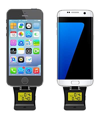 Preisvergleich Produktbild MEILI Professioneller Mini-Handy-Alkohol-Tester Atmen Atemanalysator Für iPhone Samsung Android-Telefon Schwarze Farbe