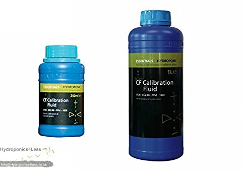 ESSENTIALS CALIBRATION FLUID Standard 2.8ms EC or CF METER SOLUTION HYDROPONICS (1 Litre)
