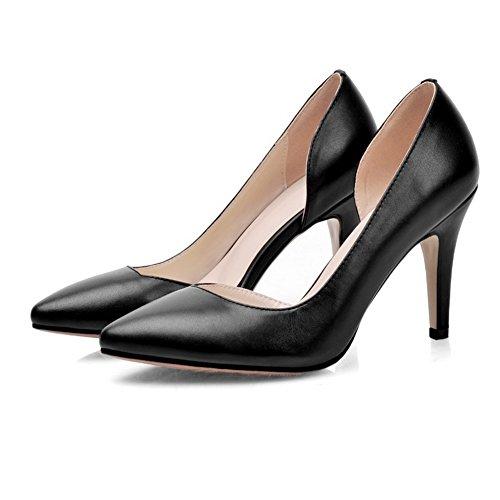 1to9, Zapatos De Tacón De Mujer Negra