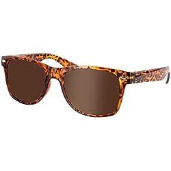 Wayfarer Atzen Sonnenbrille Nerd Brille Hornbrille alle Farben, wählen:816 braun