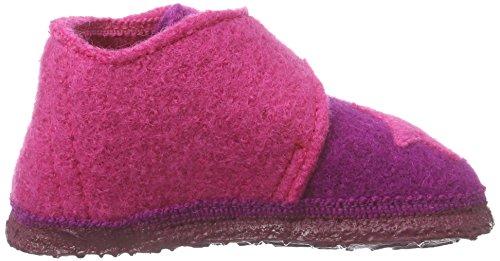 NangaStern - Pantofole Bimba 0-24 Multicolore (Mehrfarbig (Beere 29))