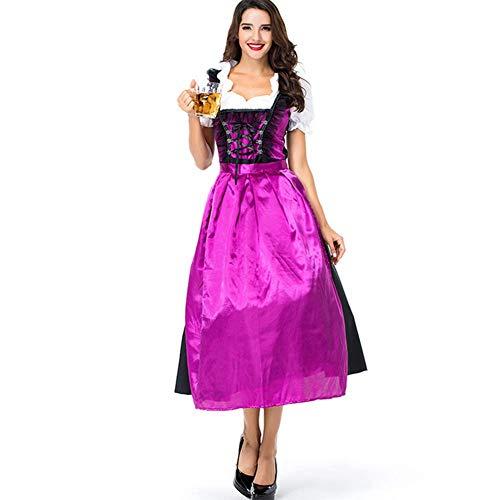 Unbekannt Frauen Halloween Cosplay Oktoberfest Fräulein Kleid ()