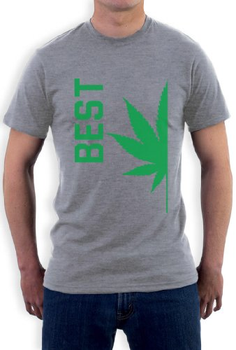Best Buds Paare BEST Grau X-Large T-Shirt