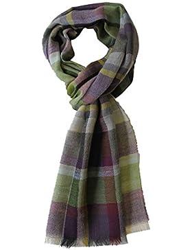 Sciarpa tessuta sciarpa estate cachi alla moda verde di lana viola 100% (Merino)