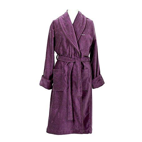 GANT Herren Bademantel Premium Velour Robe potent purple