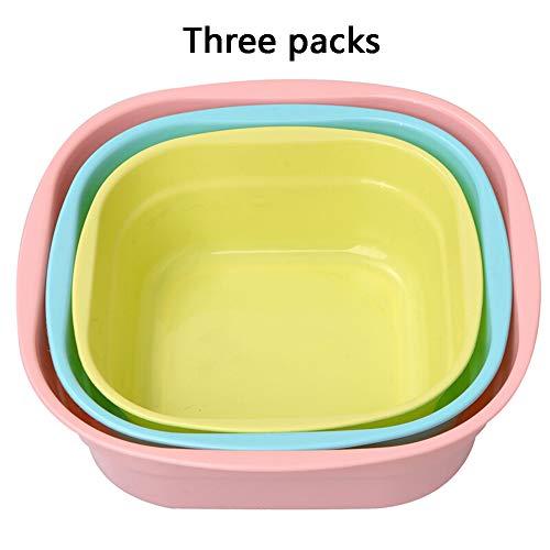 DDDD Babywaschbecken, Kunststoffwaschbecken Für Kinder, 3Er-Pack, Geeignet Für Kinder Von 0-6 Jahren