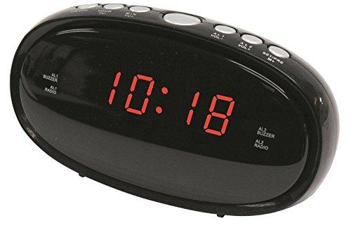 Denver Electronics CR-420 Uhr Digital Schwarz Radio - Radios (Uhr, Digital, FM, LED, 1,52 cm (0.6 Zoll), Schwarz)