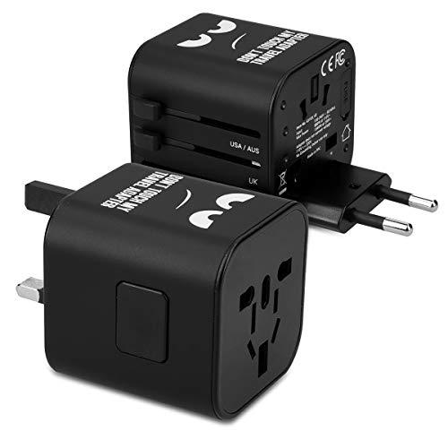 kwmobile Universal Reiseadapter für 150 Länder - Stromadapter Stecker für Europa UK Australien USA - Weltreise Reisestecker - Don't Touch Design (Elektrische Konverter Für Irland)