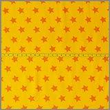 Jersey gelb mit Sternen * Kinderstoff * Trikot * Meterware * 0,5m