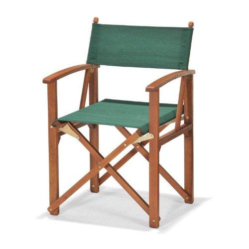 ScanCom Regiestuhl Chichester, Braun, Eukalyptusholz, FSC-zertifiziert, mit Weather-Tex Sitz-und Rückenteil