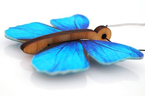 Lufterfrischer Auto Schmetterling (Duft: Aqua Flower) NEU! - Blau Duft