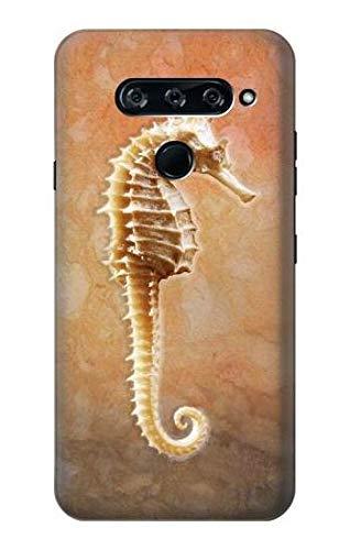 Innovedesire Seahorse Skeleton Fossil Hülle Schutzhülle Taschen für LG V40, LG V40 ThinQ