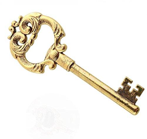 (Makefortune Home Design Vintage Bier Flaschenöffner Schlüsselform Legierung Werkzeug Bar Party Handwerk Geschenk Einfach Grip Durable (Gold))