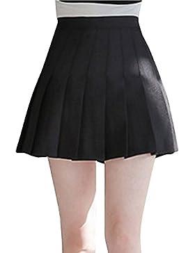 Mujeres Falda Tenis Plisada Cintura Alta Uniforme Escolar Mini Faldas
