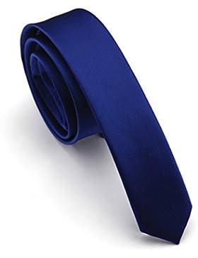 Elviros Corbata estrecha 4cm para hombres fina original para negocios, fiestas o bodas