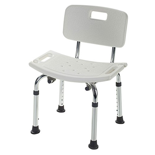 Höhe Duschstuhl (Shower chair Duschstuhl Duschhocker Verstellbare Höhe mit Winkeln Beine und Rückenlehne Badesitz)
