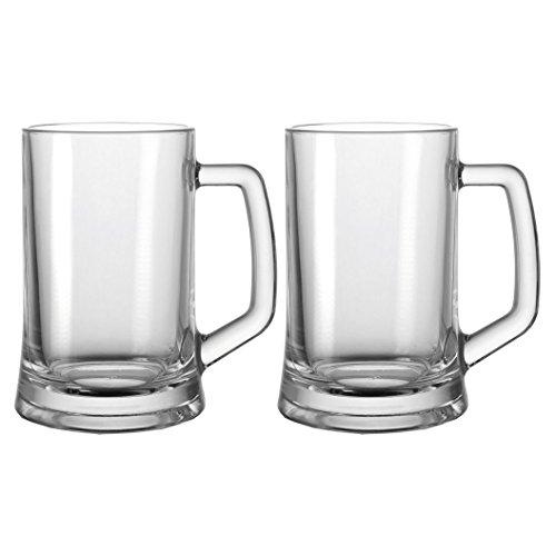 Leonardo - Beer - Bierseidel, Bierkrug, Bierhumpen, Bierglas - 2er Set - 0,5 Liter