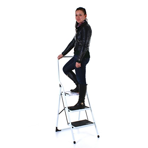 416LiEbLtIL - BEST BUY# Marko Tools Extra Tall Folding 3 Step Ladder Heavy Duty Steel Non Slip Tread Safety Reviews and price compare uk