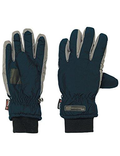 maximo Jungen Handschuhe Thermofingerhandschuh, Mehrfarbig (Dunkelmarine/Rabbit 1176), 6